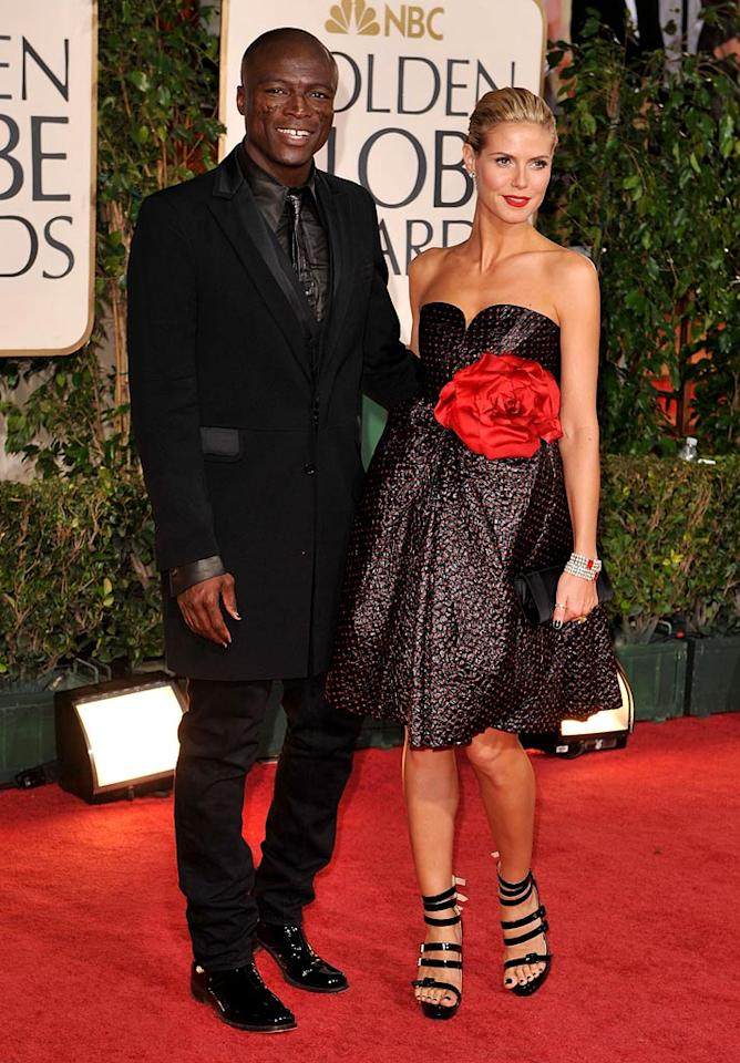 Seal and Heidi Klum arrive at the 66th Annual Golden Globe Awards on January 11, 2009 in Beverly Hills, CA. (Photo by Steve Granitz/WireImage)