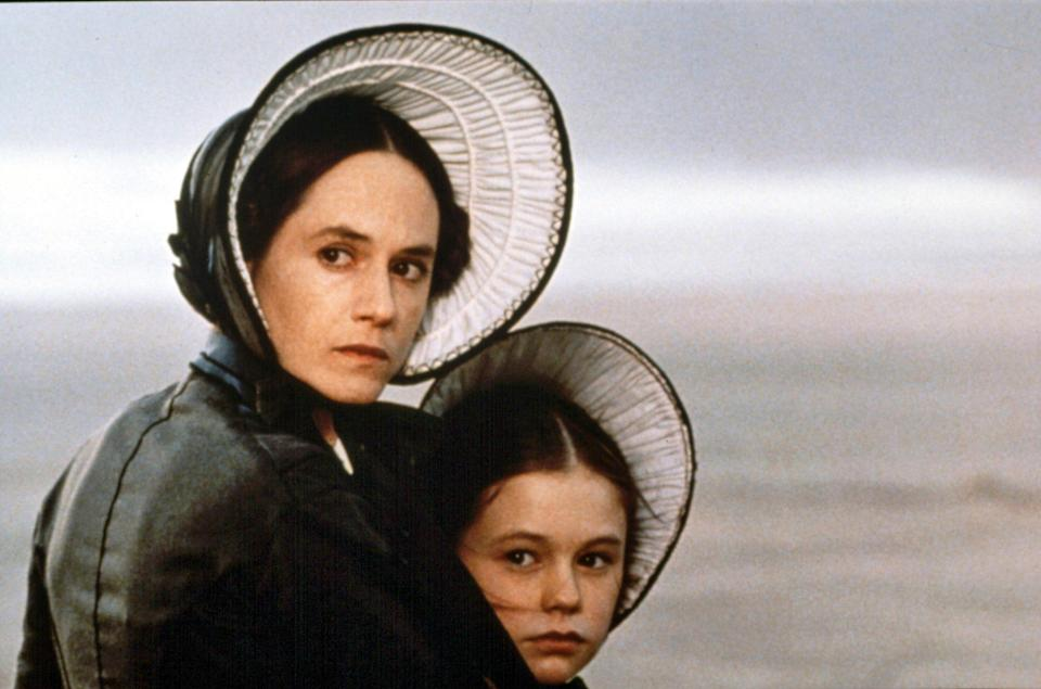 """<p>The actress took home an Academy Award for her role as a mute 19th-century bride in 1993's <em>The Piano</em> (she's been nominated four times). """"I did not have kids [then] but I felt that she was mine,"""" Hunter says of costar Anna Paquin, who also won Oscar gold. """"There was a psychic connection.""""</p>"""