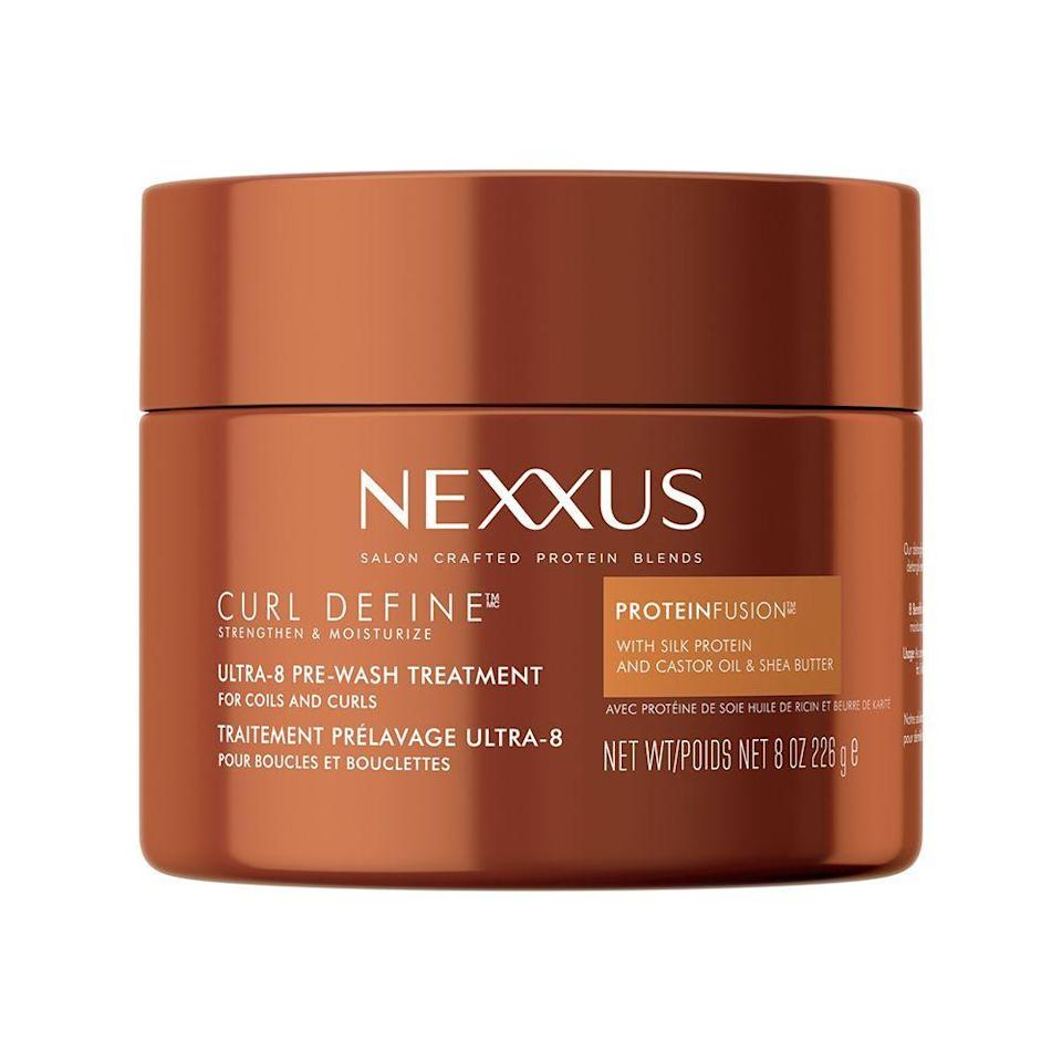 """<p><strong>Nexxus</strong></p><p>ulta.com</p><p><strong>$14.99</strong></p><p><a href=""""https://go.redirectingat.com?id=74968X1596630&url=https%3A%2F%2Fwww.ulta.com%2Fcurl-define-ultra-8-pre-wash-treatment%3FproductId%3Dpimprod2023230&sref=https%3A%2F%2Fwww.elle.com%2Fbeauty%2Fhair%2Fg36491077%2Fbest-deep-conditioner-for-natural-hair%2F"""" rel=""""nofollow noopener"""" target=""""_blank"""" data-ylk=""""slk:Shop Now"""" class=""""link rapid-noclick-resp"""">Shop Now</a></p><p>This professional-grade conditioner gives you a salon treatment at home with 8 benefits from one use. Unlike most deep conditioners, apply this before washing your hair to help elongate your hair and prevent tangling all while moisturizing and defining your curls. For those with tighter coils, this can be used after washing for extra nourishment. </p>"""