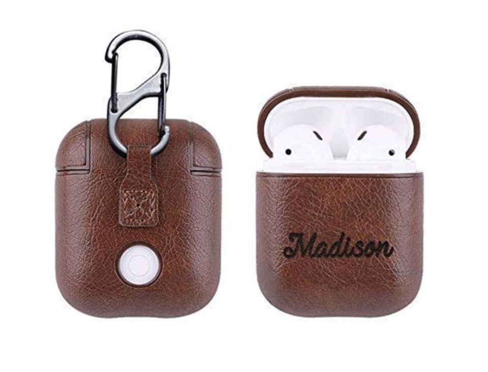 AirPods PU Leather Case with Personalized Name