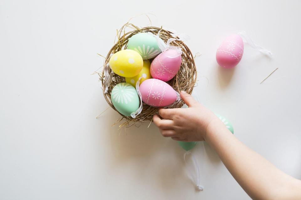 "<p>There's evidence showing that Easter eggs <a href=""http://time.com/4732984/easter-eggs-history-origins/"" rel=""nofollow noopener"" target=""_blank"" data-ylk=""slk:originated from Medieval Europe"" class=""link rapid-noclick-resp"">originated from Medieval Europe</a> and Christians may not have actually been the ones to start the tradition of giving eggs — a <a href=""https://www.cnn.com/2013/08/23/world/easter--holy-week-fast-facts/index.html"" rel=""nofollow noopener"" target=""_blank"" data-ylk=""slk:symbol of fertility and rebirth"" class=""link rapid-noclick-resp"">symbol of fertility and rebirth</a> in many cultures.</p><p><strong>RELATED</strong>: <a href=""https://www.goodhousekeeping.com/holidays/easter-ideas/g419/easter-egg-decorating-ideas/"" rel=""nofollow noopener"" target=""_blank"" data-ylk=""slk:60 So-Adorable Easter Egg Decorating Ideas"" class=""link rapid-noclick-resp"">60 So-Adorable Easter Egg Decorating Ideas</a></p>"