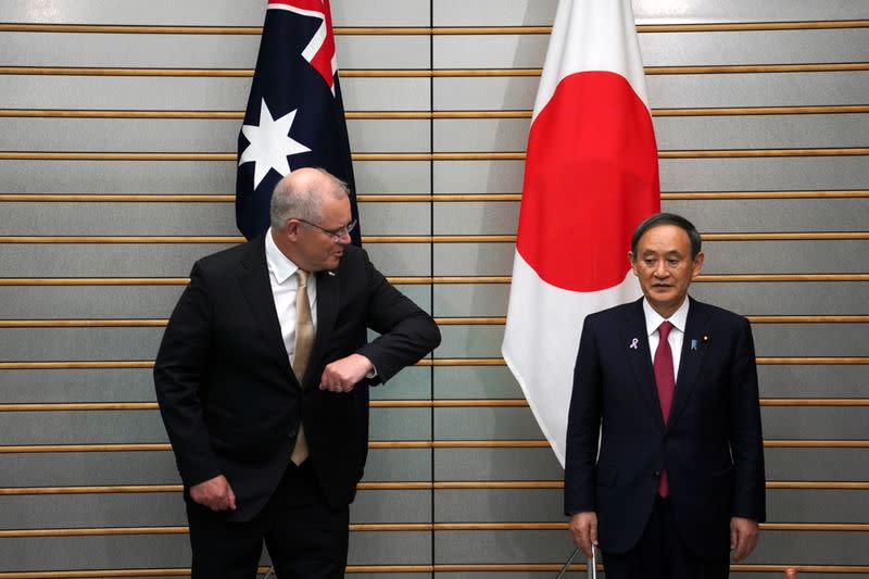 Australian PM Morrison visits Japan, meets with counterpart Suga