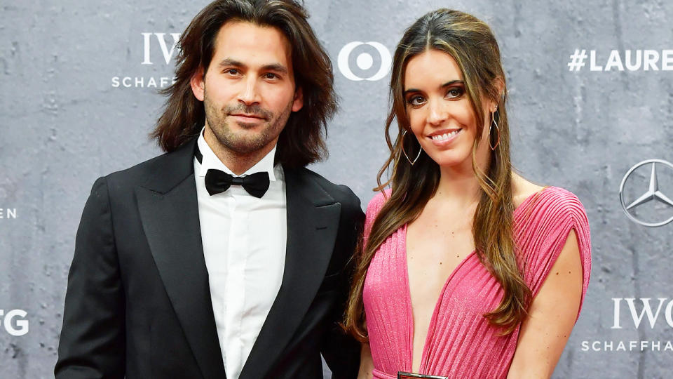 Ona Carbonell, pictured here with her husband at the 2020 Laureus World Sports Awards.