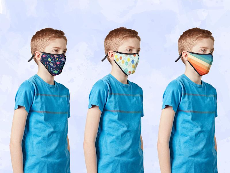 The new government advice states that children under the age of two should not wear a face mask: Vistaprint/The Independent