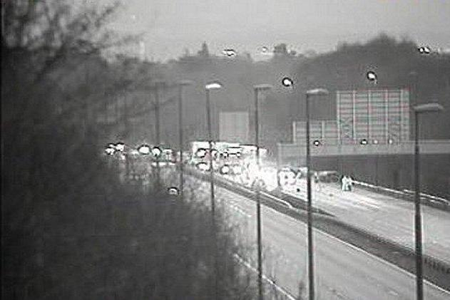 Horror crash: A man from London died at the scene of the crash on the M20: Highways England