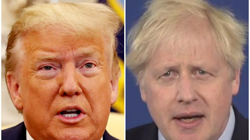 Donald Trump: 'Very thankful' for Boris Johnson's support during Covid recovery