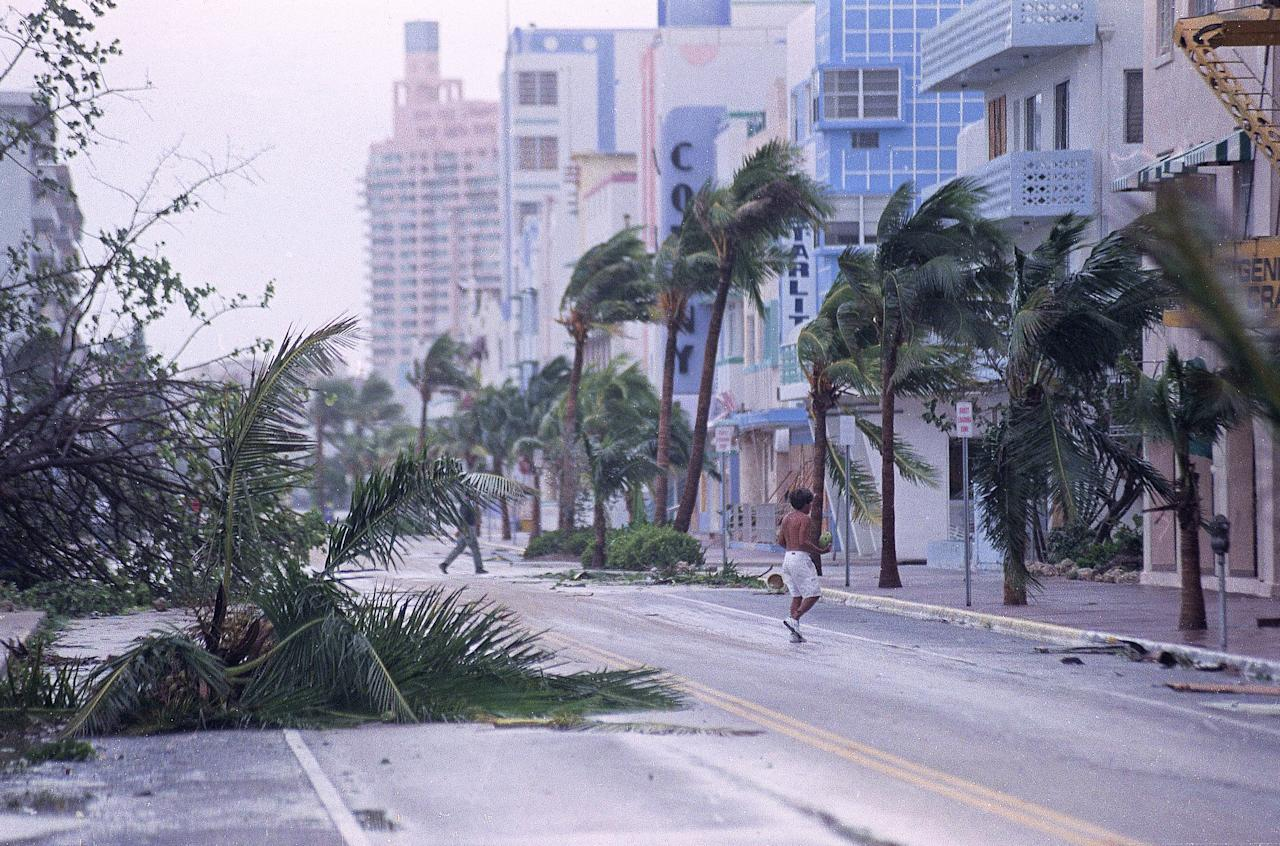 <p>The New England Patriots and the Miami Dolphins had to postpone their game after the Category 5 hurricane hit Florida. They faced off one month later. </p>