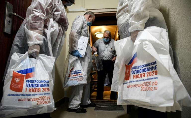 Russian election officials have been visiting vulnerable people with mobile ballot boxes