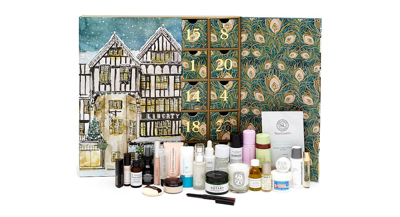"<p>Following its success last year, Liberty London has launched a beauty advent calendar for 2018 and it's a sure-fire winner. Behind its 25 doors is a selection of favourites from luxury brands including Diptyque, Byredo and Hourglass. Available from <a rel=""nofollow"" href=""https://www.libertylondon.com/"">October 24</a>. </p>"