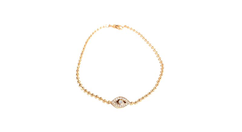 II EDITION Diamond Evil Eye Bracelet in 14k Gold