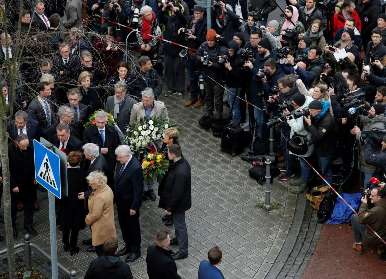 Interior Minister Horst Seehofer was among top officials who visited the scene