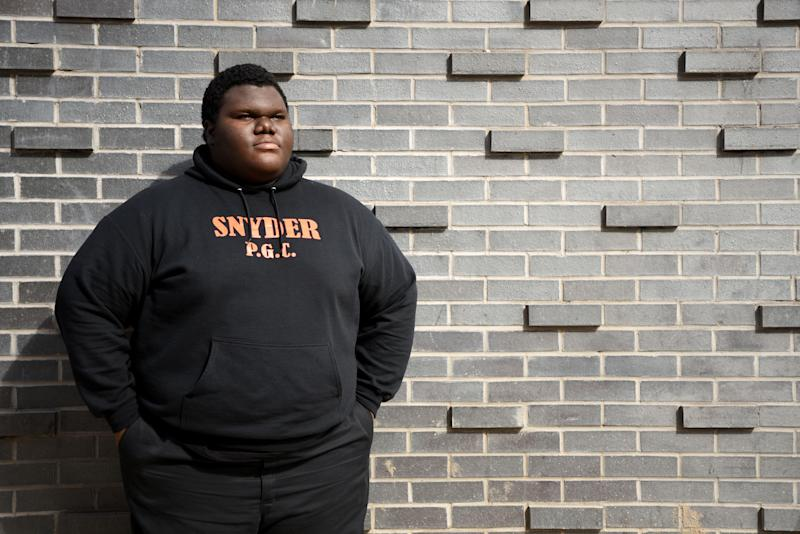 """Formerly homeless student Dylan Chidick of Jersey City, NJ has been accepted to seventeen colleges. On Thursday, March 14, 2019 Chidick received a full scholarship for tuition, room and board from """"Give Something Back."""" Chidick and his mother, Khadine Phillip received housing from Women Rising in Jersey in August 2017."""