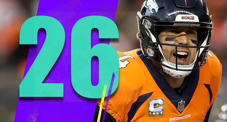 <p>Denver has back-to-back games against two of the NFL's best teams, first at the Chargers then they host the Steelers. Either that's an opportunity for Vance Joseph and his team to start to change the perception about them, or things could get really ugly in Denver. (Case Keenum) </p>