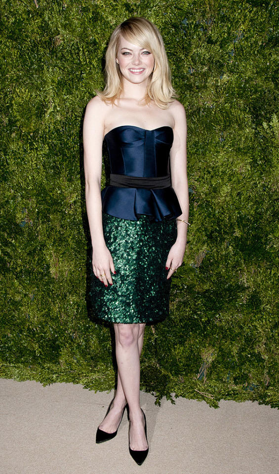 Ninth Annual CFDA/Vogue Fashion Fund Awards in NYC.Center 548, NYC Pictured: Emma Stone  Ref: SPL458354  131112  Picture by: Janet Mayer / Splash News   Splash News and Pictures Los Angeles:310-821-2666 New York:212-619-2666 London:870-934-2666 photodesk@splashnews.com