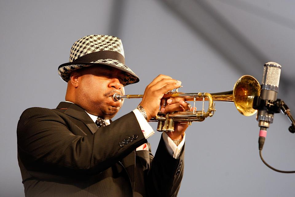 Nicholas Payton performs in the 2009 New Orleans Jazz & Heritage Festival.