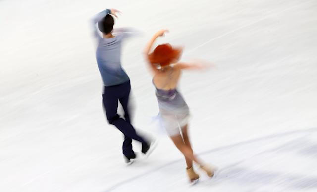 Figure Skating - World Figure Skating Championships - The Mediolanum Forum, Milan, Italy - March 24, 2018 Russia's Tiffani Zagorski and Jonathan Guerreiro during the Ice Dance Free Dance REUTERS/Alessandro Bianchi