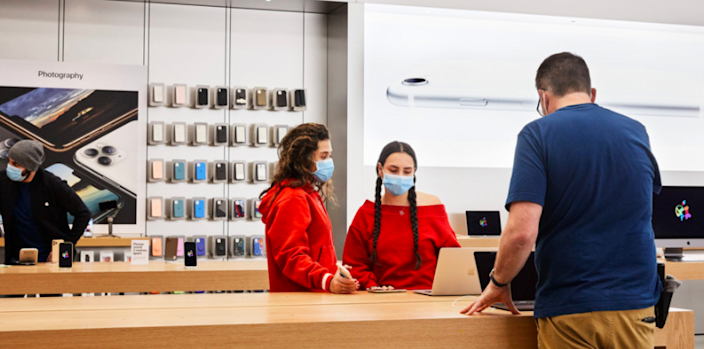 Apple will require customers to wear masks at half of its stores starting July 29.