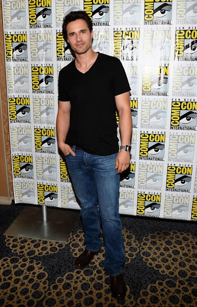 "Brett Dalton attends ""Marvel's Agents Of S.H.I.E.L.D."" Press Line during Comic-Con International 2013 at Hilton San Diego Bayfront Hotel on July 19, 2013 in San Diego, California."