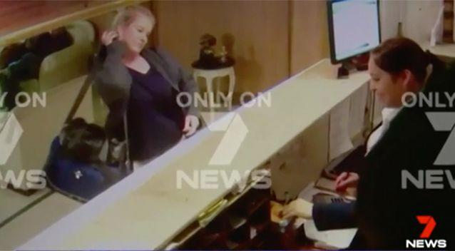New pictures: Ms Sainsbury claims she is innocent. Photo: 7 News