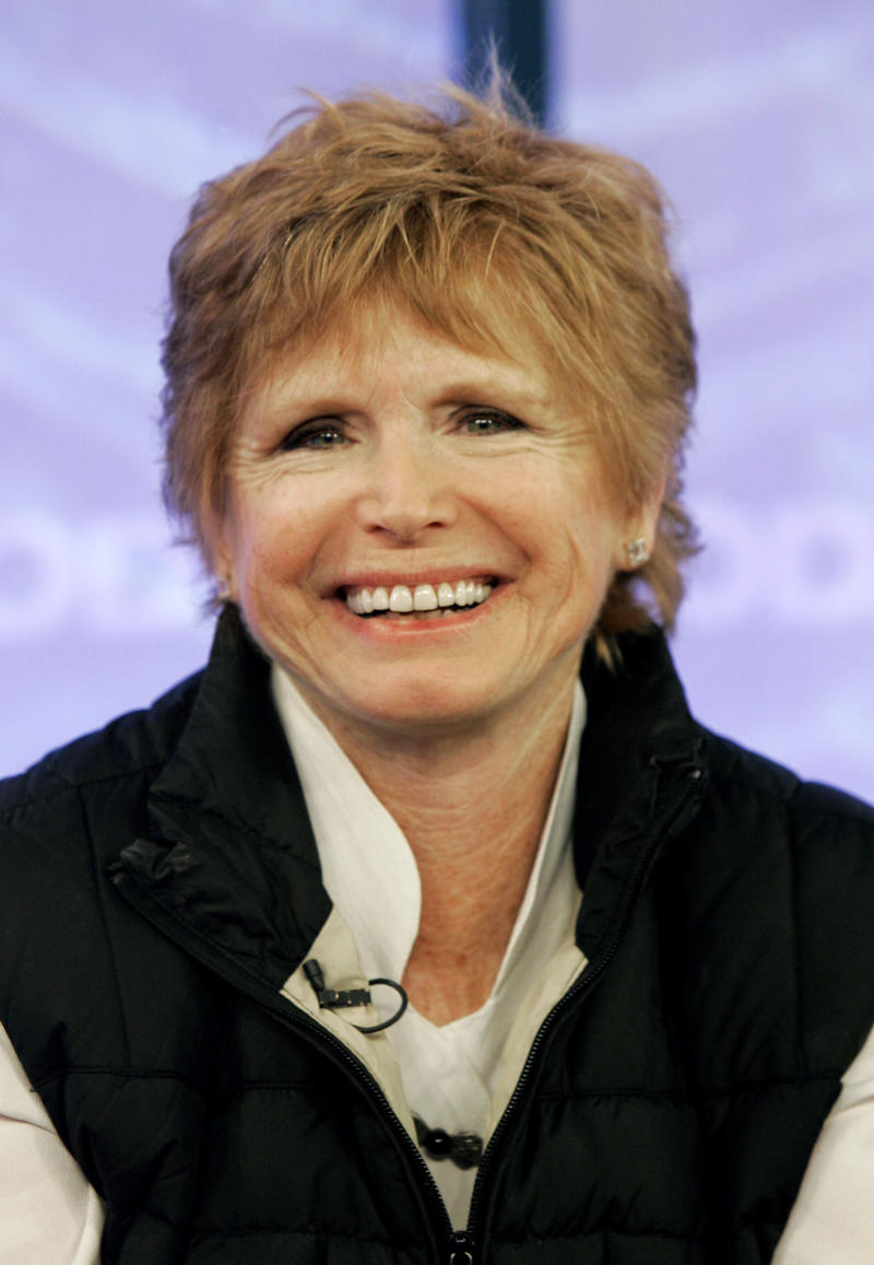 """FILE - In this Feb. 26, 2008 file photo, Bonnie Franklin, of the 1970's sitcom """"One Day at a Time, """" appears with the reunited cast on the the NBC """"Today"""" television program in New York. Franklin, the pert, redheaded actress whom millions came to identify with for her role as divorced mom Ann Romano on the long-running sitcom """"One Day at a Time,"""" died Friday, March 1, 2013, at her home due to complications from pancreatic cancer, family members said. She was 69. Her family had announced she was diagnosed with cancer in September (AP Photo/Richard Drew, File)"""