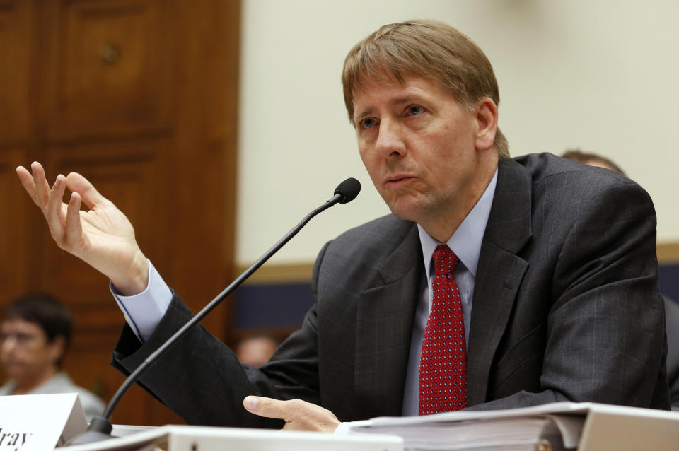 Consumer Financial Protection Bureau Director Richard Cordray testifies before House Financial Services Oversight and Investigations Subcommittee hearing on