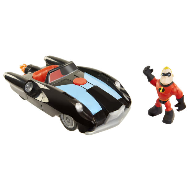 <p>Junior Supers Vehicle & Figure Assortment: Mr. Incredible & Incredibile, Jakks Pacific, $14.99. (Photo: Courtesy of Disney Products and Interactive Media) </p>