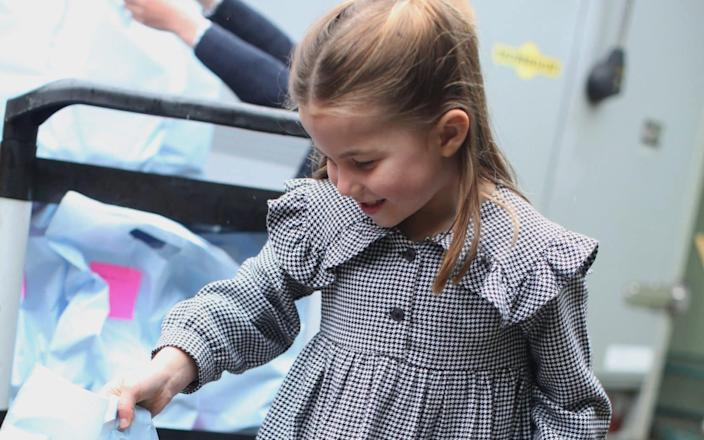 Princess Charlotte delivering food packages - Duchess of Cambridge