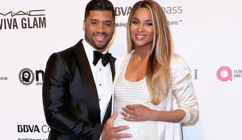 ciara and russell wilson do a nude family pregnancy photo shoot for harpers bazaar