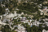 A view of the private residence of President Jovenel Moise in Port-au-Prince, Haiti, Tuesday, July 13, 2021. Moise was killed and his wife wounded during an attack on his home on July 7. (AP Photo/Matias Delacroix)