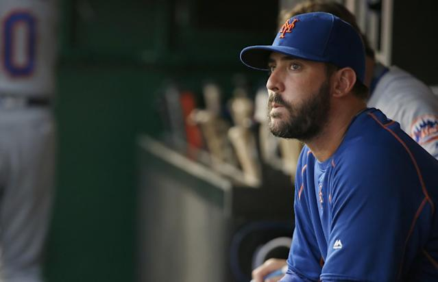 Matt Harvey returns to the Mets on Tuesday following his three-game suspension. (AP Images)
