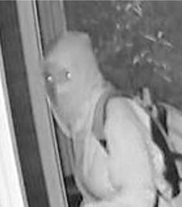 Police released this image of a suspect in the vandalism of the Holy Trinity Church in southeast Calgary.  (Calgary Police Service - image credit)