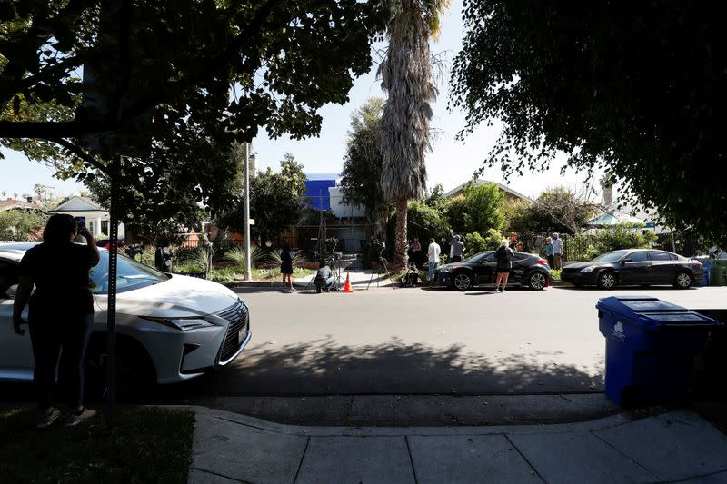 FILE PHOTO: Site where Lady Gaga's dog walker was shot and two dogs stolen in L.A.