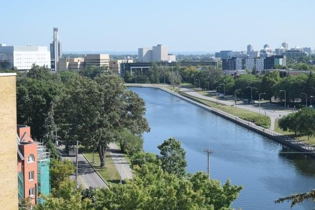 The Rideau Canal as seen in Ottawa on Monday. (Darren Major/CBC - image credit)