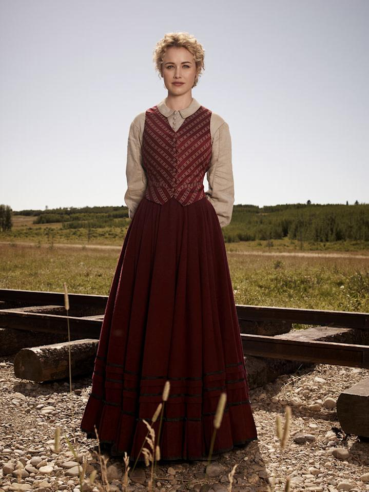 """Dominique McElligott stars as Lily Bell in """"Hell on Wheels."""""""