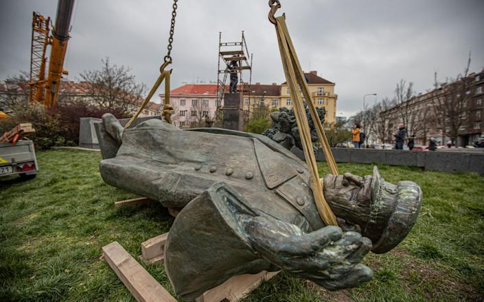 The statue of former Red Army commander Ivan Konev is seen by some Czech's as a symbol of Soviet occupation and repression - MARTIN DIVISEK/EPA-EFE/Shutterstock/Shutterstock