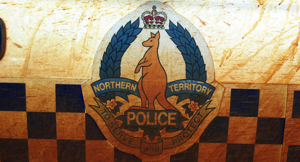 The side of a police car in the Northern Territory.