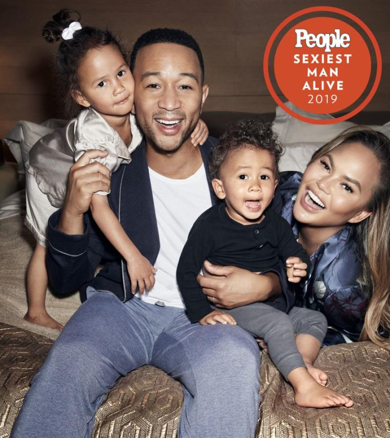 John Legend with wife Chrissy Teigen and children Miles and Luna. | Doug Inglish