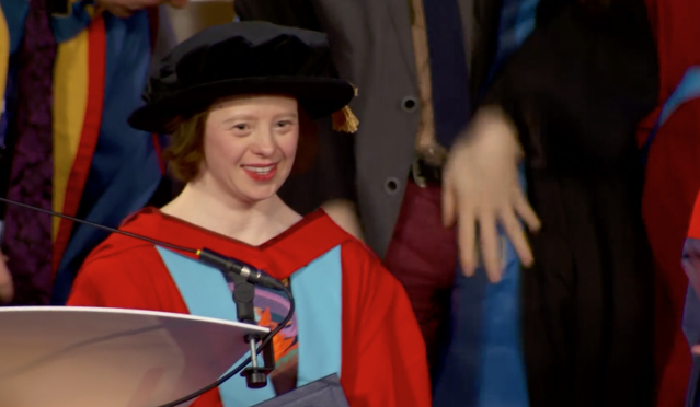 <em>Sarah Gordy has become the first person with Down's Syndrome to be awarded an honorary degree (Picture: University of Nottingham)</em>