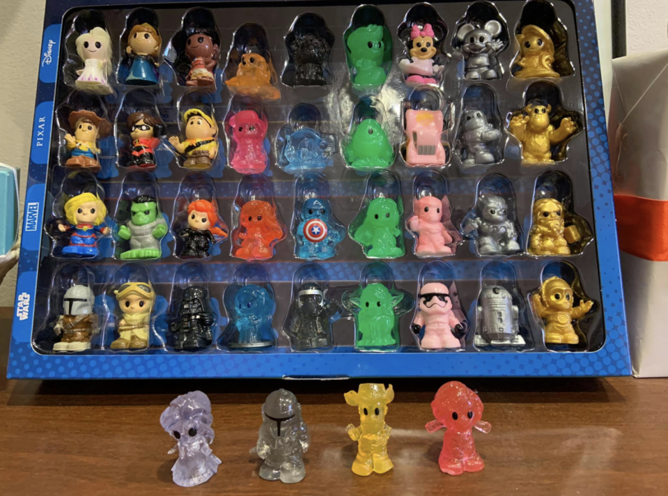 Photo shows a full set of Woolworths Disney Ooshies.