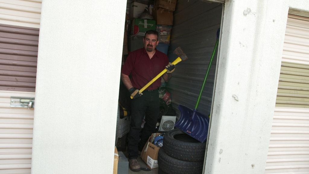 Vancouver, WA - Jeff Bushsaw considers himself a 'shoestring' prepper, he buys storage units to look for prepping items.