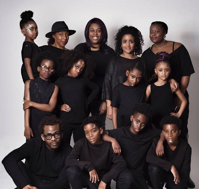 (Top, second from left) Selma on set for the Looks Like Me 'Hero In Us All' inspirational photography campaign for the BFI preview screening of the Blockbuster Marvel film Black Panther. (Photo: Supplied)