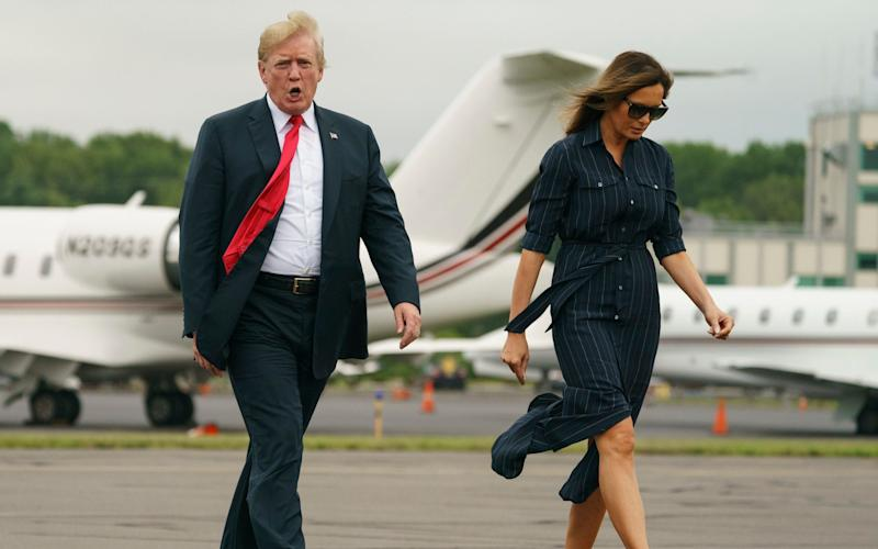 Donald and Melania Trump's relationship has come under scrutiny during his White House tenure - AP