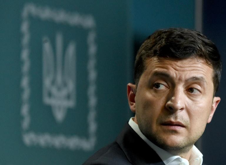 Ukraine has seized a Russian tanker it said was used in a naval confrontation last November amid sensitive prisoner swap talks between the two countries at loggerheads since 2014; Ukrainian President Volodymyr Zelensky in a July 2019 image