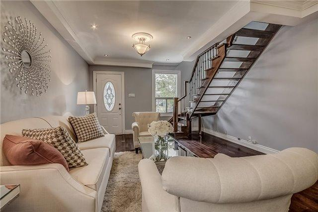 "<p><a rel=""nofollow"">50 Wiley Ave, Toronto, Ont.</a><br /> This professionally-renovated home is located in Toronto's popular Danforth Village neighbourhood, located walking distance to the subway, schools and other amenities.<br /> (Photo: Zoocasa) </p>"