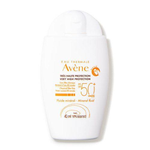 """<h3>Avène Mineral Sunscreen Fluid SPF 50+</h3><p>Lightweight and fast-absorbing with a satin-matte finish, this is the sunscreen to reach for when it's partly cloudy and you're like, """"Do I really <em>have</em> to wear sunscreen?"""" The sunflower seed oil-infused formula is hydrating enough to use as a moisturizer stand-in for most skin types, so it's one less step you have to think about — because, yes, you <em>do</em> still need to wear sunscreen.</p><br><br><strong>Avène</strong> Mineral Sunscreen Fluid SPF 50+, $28, available at <a href=""""https://www.dermstore.com/product_Mineral+Sunscreen+Fluid+SPF+50_80327.htm"""" rel=""""nofollow noopener"""" target=""""_blank"""" data-ylk=""""slk:DermStore"""" class=""""link rapid-noclick-resp"""">DermStore</a>"""