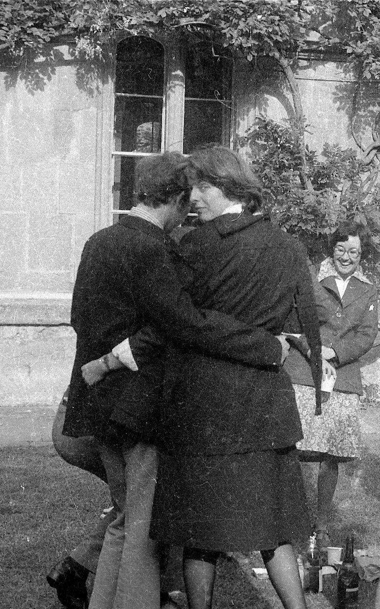 Theresa May with her future husband Philip May at Oxford in 1977 - Credit: Jon Collinson