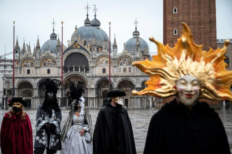 Venice authorities have moved many of the festivities online for this year's carnival