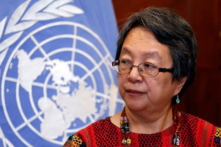 Victoria Tauli-Corpuz, UN Special Rapporteur on the rights of indigenous people, was called a terrorist by the government in her home country of the Philippines. (Photo: CRISTINA VEGA via Getty Images)