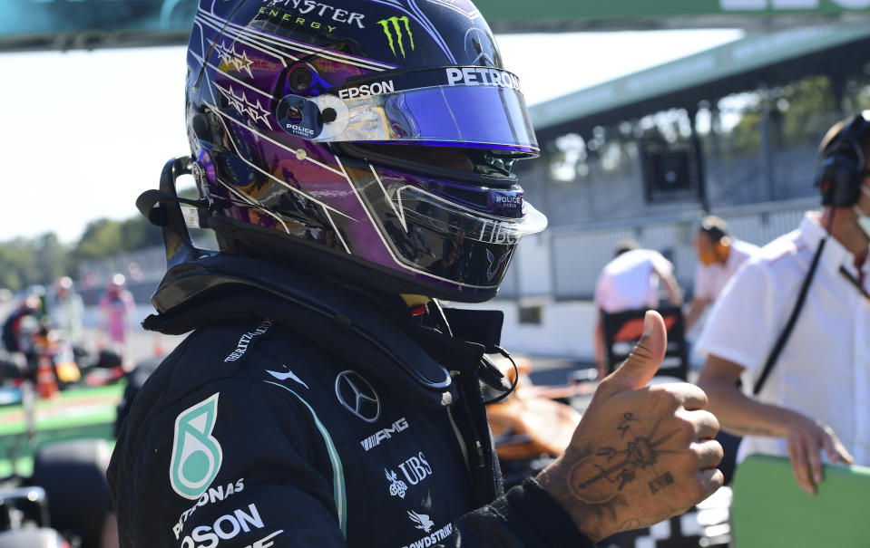 Hamilton sets fastest lap in F1 history to take Monza pole