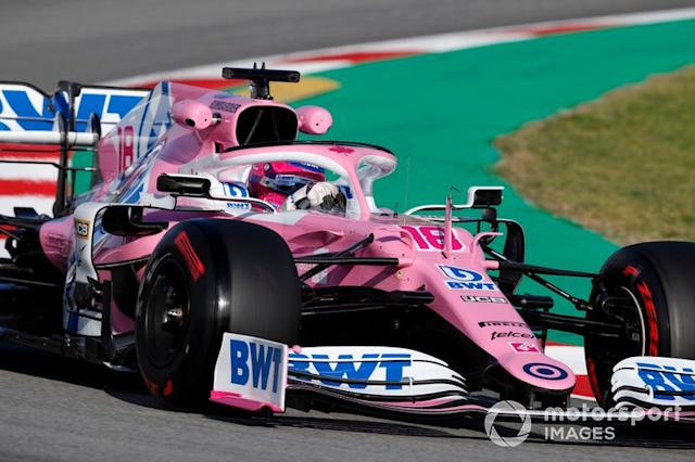 """Lance Stroll, Racing Point RP20 <span class=""""copyright"""">Zak Mauger / Motorsport Images</span>"""